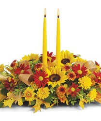 Harvest Centerpiece from Clifford's where roses are our specialty