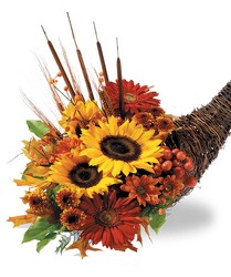 Autumn Abundance Cornucopia from Clifford's where roses are our specialty