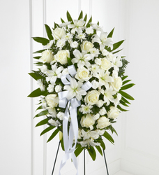 The Exquisite Tribute Standing Spray from Clifford's where roses are our specialty