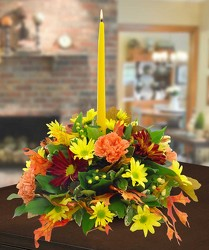 Autumn Centerpiece from Clifford's where roses are our specialty