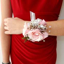 Corsage from Clifford's where roses are our specialty