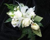 White Rose Corsage from Clifford's where roses are our specialty