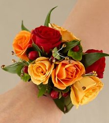 Colorful Rose Corsage from Clifford's where roses are our specialty