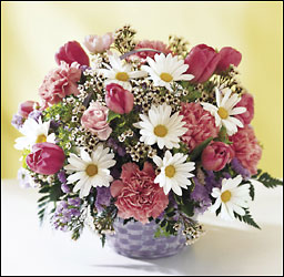 Garden Spring Basket from Clifford's where roses are our specialty
