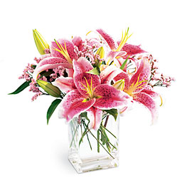 Pink Lily Bouquet from Clifford's where roses are our specialty