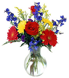 Burst of Color Bouquet from Clifford's where roses are our specialty