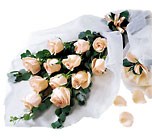 Delightful Dozen-Wrapped Roses from Clifford's where roses are our specialty