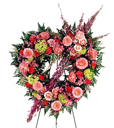 FTD Eternal Rest Open Heart from Clifford's where roses are our specialty
