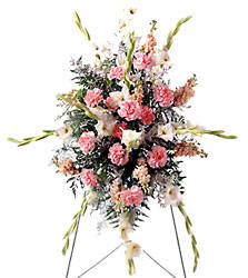 FTD Pink Mixture Standing Spray from Clifford's where roses are our specialty