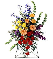 FTD Fond Farewell Standing Spray from Clifford's where roses are our specialty