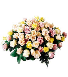 FTD Peaceful Tribute Arrangement from Clifford's where roses are our specialty