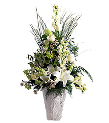 Weeping Lilies Arrangement from Clifford's where roses are our specialty