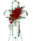 FTD Floral Cross Arrangement from Clifford's where roses are our specialty