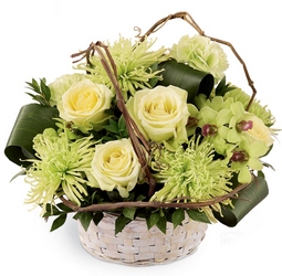 Basket of Dreams Arrangement from Clifford's where roses are our specialty