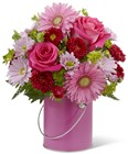 The FTD Color Your Day With Happiness Bouquet  from Clifford's where roses are our specialty