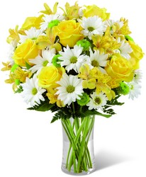 The  Sunny Sentiments Bouquet from Clifford's where roses are our specialty