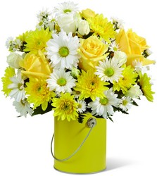 The FTD Color Your Day With Sunshine Bouquet from Clifford's where roses are our specialty