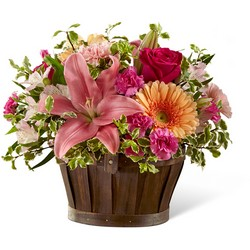 The  Spring Garden Basket from Clifford's where roses are our specialty