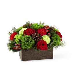 The Christmas Cabin Bouquet from Clifford's where roses are our specialty