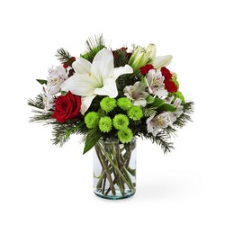 Christmas Spirit Bouquet from Clifford's where roses are our specialty