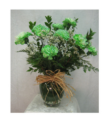 GreenCarnations from Clifford's where roses are our specialty