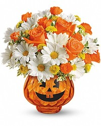 Happy Halloween Pumpkin Bouquet from Clifford's where roses are our specialty