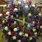 Presidents Memorial Wreath from Clifford's where roses are our specialty