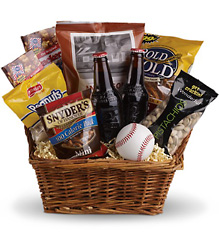 Take Me Out to the Ballgame Basket from Clifford's where roses are our specialty
