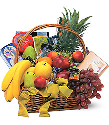 Gourmet Fruit Basket from Clifford's where roses are our specialty