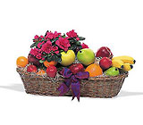Plant and Fruit Basket from Clifford's where roses are our specialty