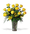 A Dozen Yellow Roses from Clifford's where roses are our specialty